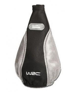 Φούσκα λεβιέ ταχυτήτων δέρμα, μαύρο και ασημένιο WRC (007310)