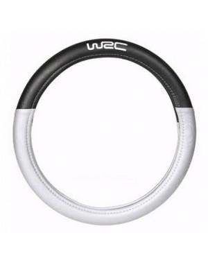 Κάλυμμα τιμονιού με διπλό υλικό μαύρο/ασημί WRC(007381)