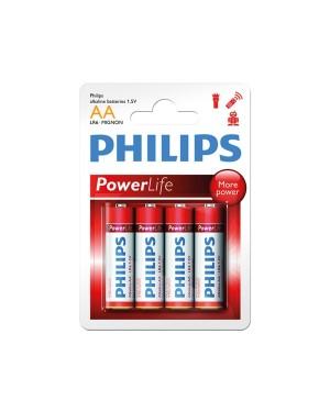 ΜΠΑΤΑΡΙΕΣ PHILIPS POWERLIFE LR6 1,5V (AA) 4 ΤΕΜΑΧΙΑ (0568067)