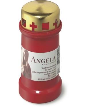 Κερί κοιμητηρίου-νεκροταφείου No 3 50 ωρών με χρυσό καπάκι Κόκκινο ANGELA Bolsius (100420189041)