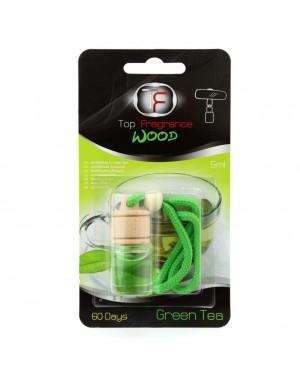 Αρωματικό αυτοκινήτου κρεμαστό με άρωμα πράσινο τσάι Top Fragrance Wood(009390)