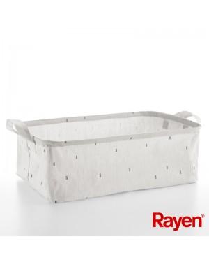 Καλάθι canvas για ρούχα, παιχνίδια & οργάνωση σπιτιού 60x40x20cm 60 Lt Rayen (2304.01)