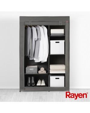 Υφασμάτινη ντουλάπα με μεταλλικό σκελετό & ράφια 105x45x161cm Rayen (2384.01)
