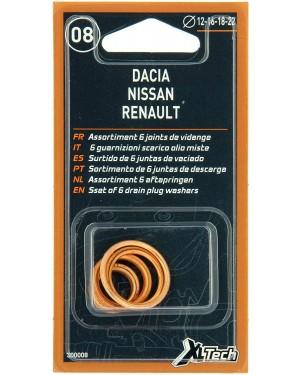 7 Ροδέλες τάπας κάρτερ για αλλαγή λαδιών Ø12-14-18mm για ΑUDI, BMW, FORD, MERCEDES, OPEL, SEAT, SKODA, VW XLTECH (300009)