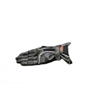 Γάντια μοτοσυκλέτας καλοκαιρινά δερμάτινα μαύρα Motor X (4290300)