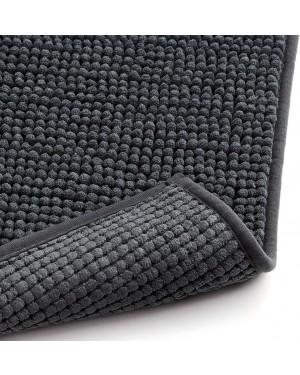 Πατάκι μπάνιου σκούρο γκρι 100% μικροϊνών 80x50cm Rayen (6325.02)