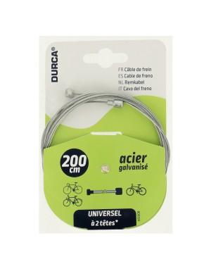 Συρματόσχοινο φρένων ποδηλάτου 200cm DURCA (800324)