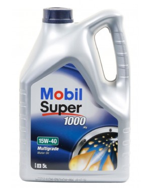 MOBIL ΛΑΔΙ SUPER 1000 X1 15W-40 5LT ΓΙΑ ΒΕΝΖΙΝΟΚΙΝΗΤΗΡΕΣ (4734)