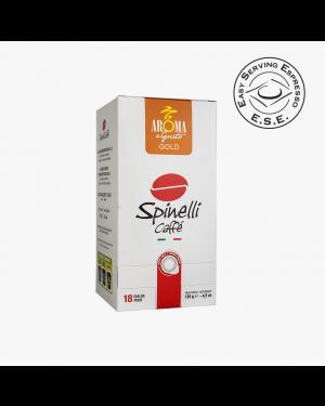Κάψουλες espresso συμβατές με μηχανή E.S.E. Pod Aroma e Gusto Gold 18τεμ SPINELLI CAFFE (126034Gold)
