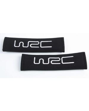 2 προστατευτικά ζώνης ασφαλείας μαύρα με κέντημα WRC (007331)