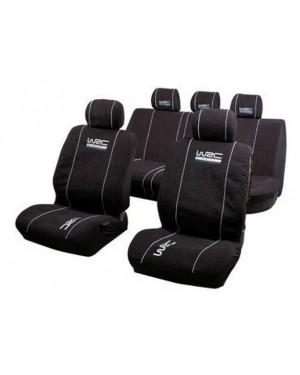Σετ 9 τεμαχίων καλύμματα καθισμάτων αυτοκινήτου βελουτέ μαύρα WRC (007338)