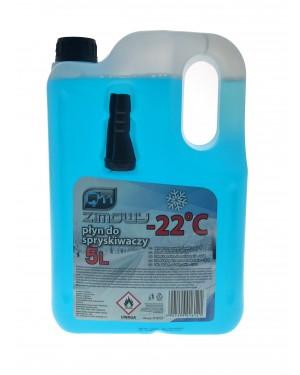 Καθαριστικό υγρό υαλοκαθαριστήρων-παρμπρίζ έτοιμο για χρήση 5L -22 HDPE WITH FUNNEL Q11(016121)