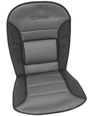 Πλατοκάθισμα αεριζόμενο με μαξιλάρι πλάτης γκρι-μαύρο CARPOINT COMFORT(0323276)