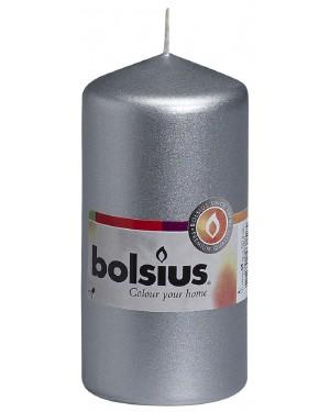 BOLSIUS ΚΕΡΙ ΚΥΛΙΝΔΡΟΣ ΑΣΗΜΙ-SILVER 120/58 33 ΩΡΩΝ (103614390181)