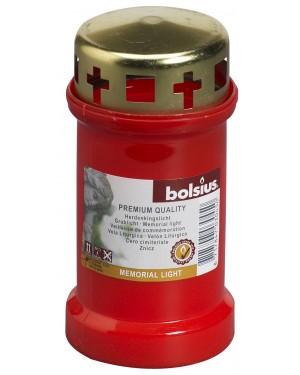 Κερί κοιμητηρίου-νεκτροταφείου 50 ωρών με καπάκι Κόκκινο Bolsius (103620180341)