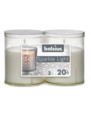 SPARKLE LIGHT ΚΕΡΙΑ 2 ΤΕΜΑΧΙΩΝ 20 ΩΡΩΝ ΛΕΥΚΑ 64/52 BOLSIUS (103622390500)