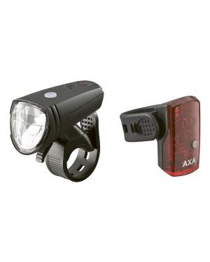 Σετ φώτα ποδηλάτου 15 lux/1 led Greenline 15 USB AXA (5011611)