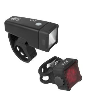 Σετ φώτα ποδηλάτου Niteline T4-R USB AXA (5011620)