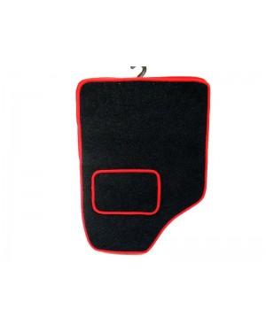 Πατάκια μπροστινά 2 τμχ μοκέτα κόκκινο ρέλι (541237)