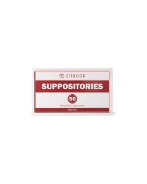 Suppositories 500mg CBD υπόθετα 10 τεμάχια ENDOCA (6001)