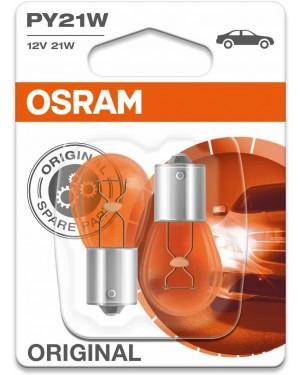 2 λάμπες πορτοκαλί PY21W OSRAM (7507-02B)