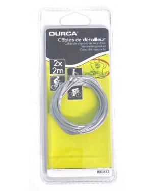 Συρματόσχοινο ταχυτήτων ποδηλάτου 2m 2 τεμάχια DURCA για mountain bike (800345)