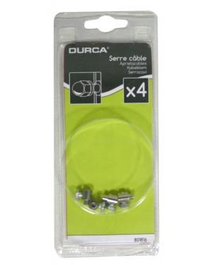 Σφικτήρας καλωδίου ποδηλάτου 4 τεμάχια DURCA (801816)