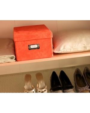 Κουτί αποθήκευσης ρούχων όψη σουέντ πορτοκαλί 40Χ31Χ21cm (RAN4010)