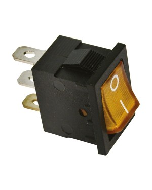 ΔΙΑΚΟΠΤΗΣ-SWITCH ON/OFF 12V 20A 19X14mm ORANGE CARPOINT (0810671)