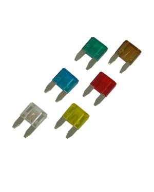 Ασφάλειες αυτοκινήτου σετ καρφωτές mini 7,5-10-15-20-25-30A 6 τεμάχια (1623902)