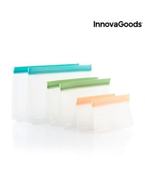 Επαναχρησιμοποιούμενες αεροστεγείς σακούλες για τρόφιμα σετ 6 τμχ Zags InnovaGoods (V0103189)