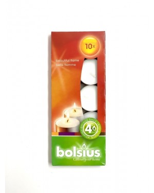 Bolsius 4 Hour Tealights - 100 Pack White (103630299900)